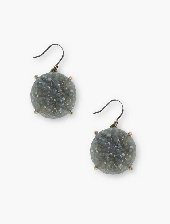 DRUZY DROP EARRINGS, GOLD, productTileDesktop
