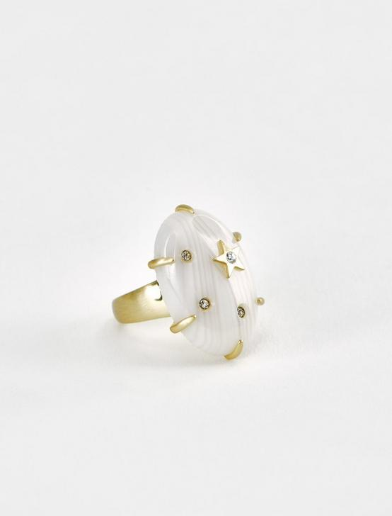 STAR AND PAVE RING, GOLD, productTileDesktop