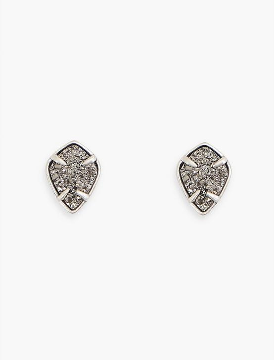 DIAMOND DRUZY STUDS, SILVER, productTileDesktop