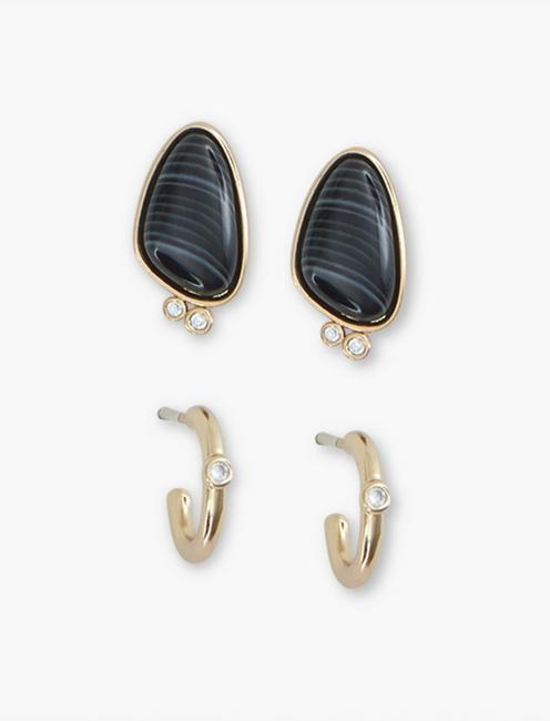 Stone Pave Earring Set,
