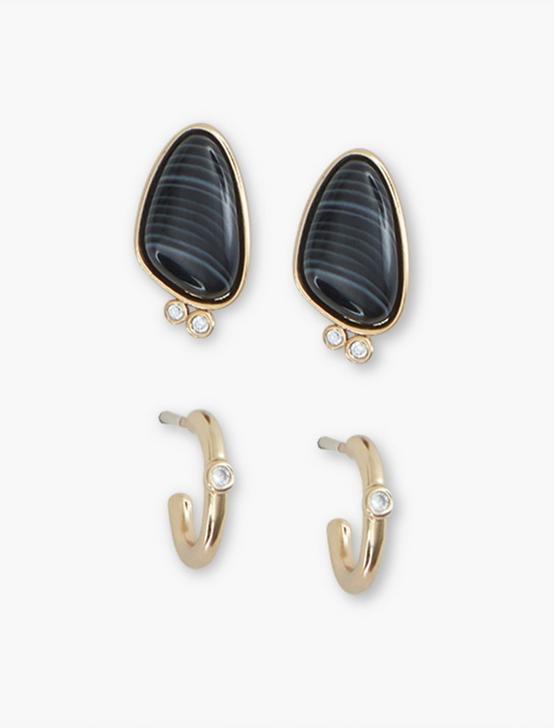 Stone Pave Earring Set, GOLD, productTileDesktop
