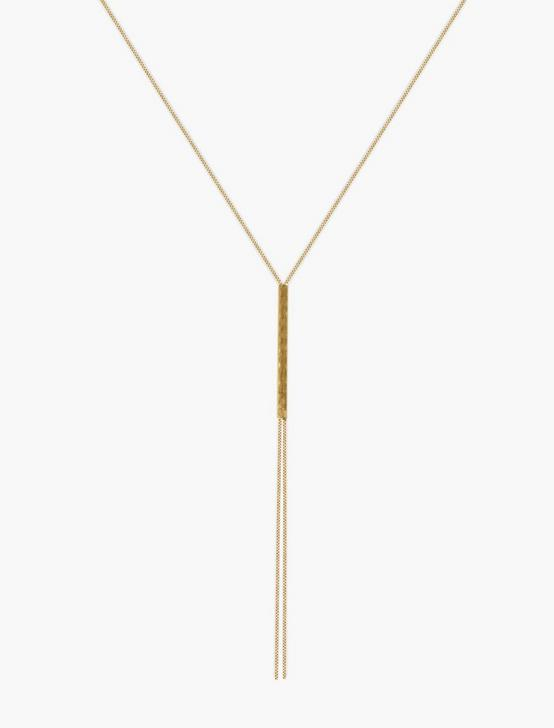 MODERN BAR Y NECKLACE, GOLD, productTileDesktop