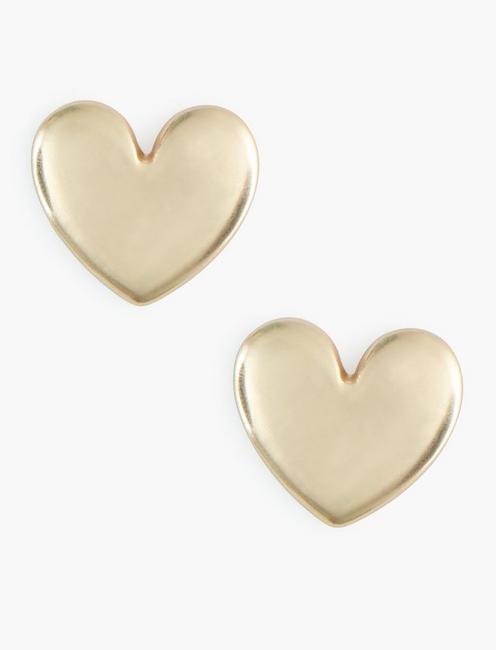 GOLD HEART STUDS, GOLD