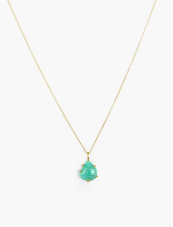 Amazonite Pendant Necklace, GOLD, productTileDesktop