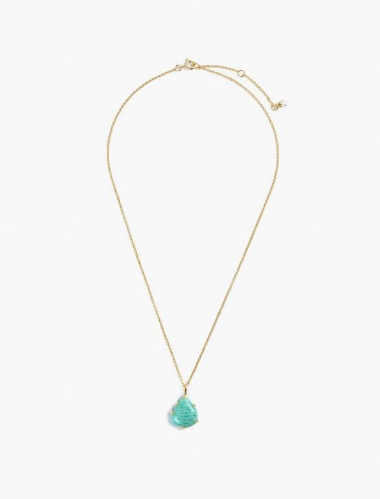 Amazonite Pendant Necklace, GOLD, productTileDesktop