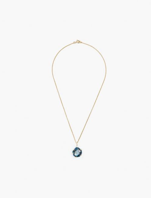 Kyanite Pendant Necklace, GOLD