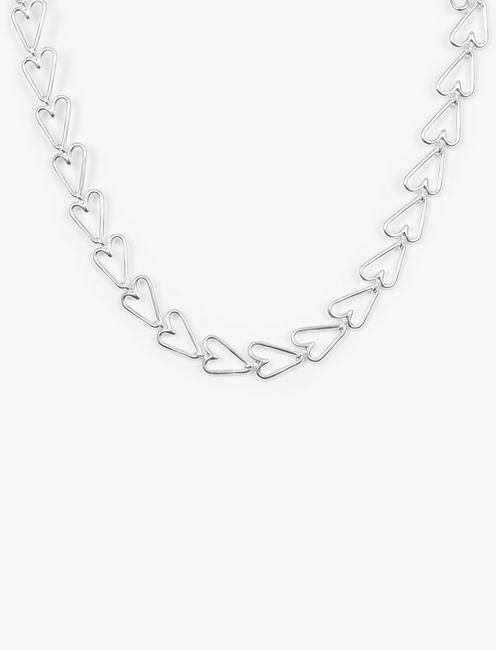 HEART CHAIN NECKLACE, SILVER
