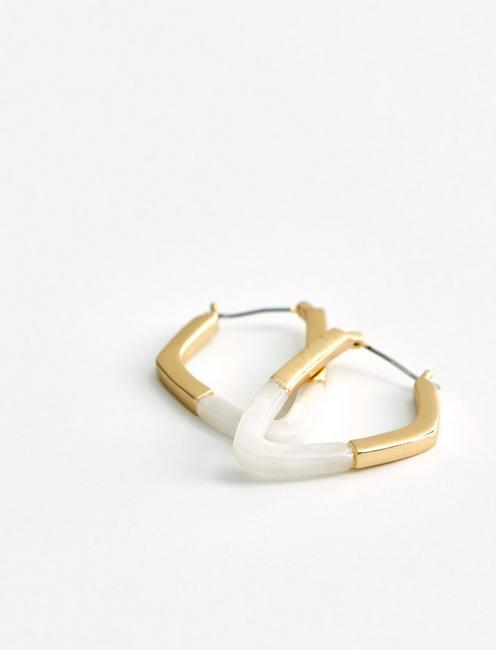 GEOMETRIC HOOP EARRINGS, GOLD