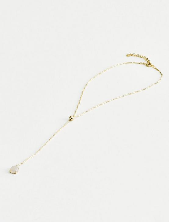 STONE Y NECKLACE, GOLD, productTileDesktop