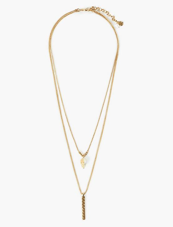 DOUBLE LAYER NECKLACE, GOLD, productTileDesktop
