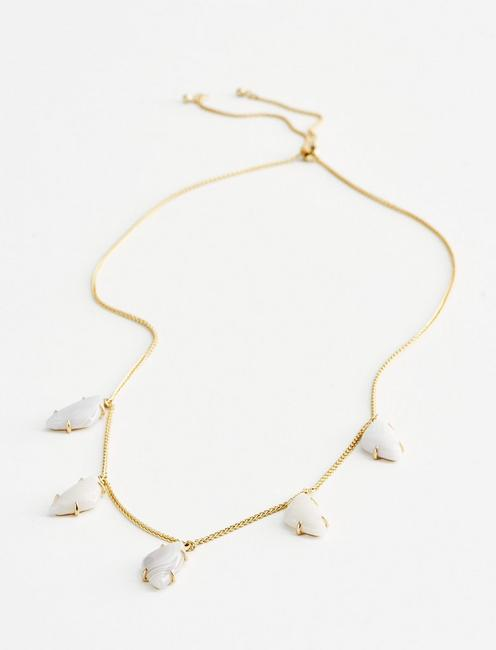 DROP STONE NECKLACE, GOLD