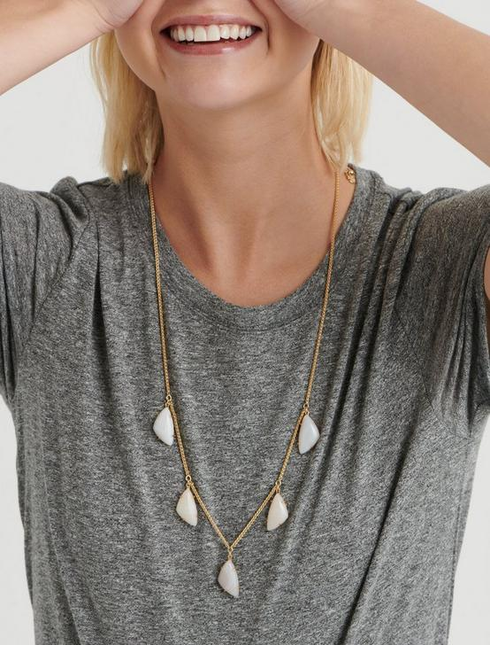 DROP STONE NECKLACE, GOLD, productTileDesktop
