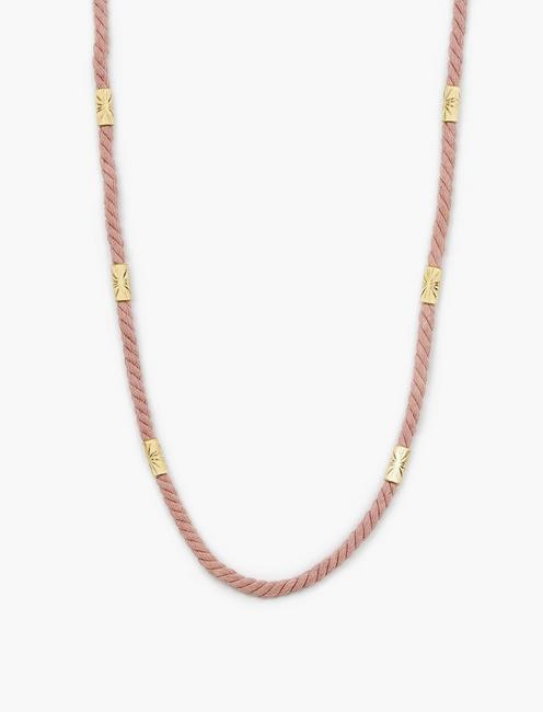 PINK ROPE NECKLACE, GOLD