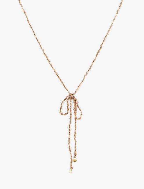 WOVEN Y NECKLACE, GOLD