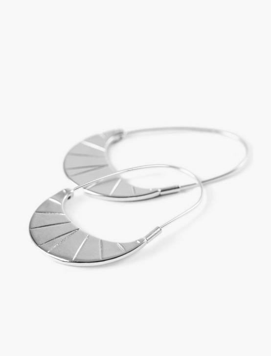 ETCHED HOOP EARRINGS, SILVER, productTileDesktop