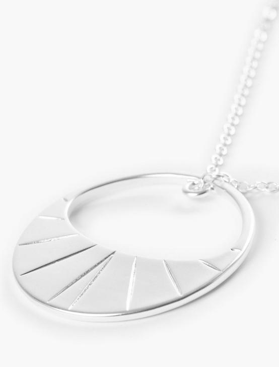 HOOP PENDANT NECKLACE, SILVER, productTileDesktop