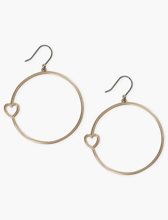 GOLD HEART HOOP, GOLD, productTileDesktop