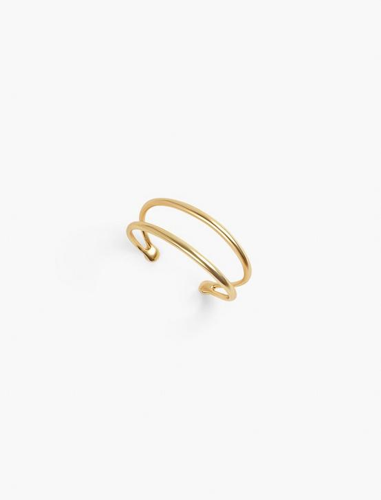 SPLIT DOUBLE CUFF, GOLD, productTileDesktop