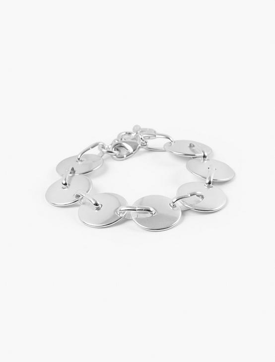 LINKED DISC BRACELET, SILVER, productTileDesktop