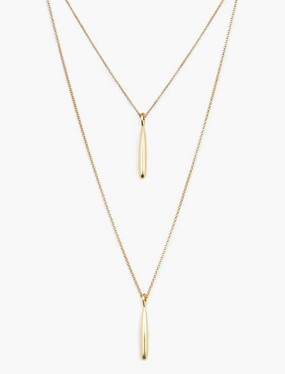 LAYER PENDANT NECKLACE, GOLD, productTileDesktop