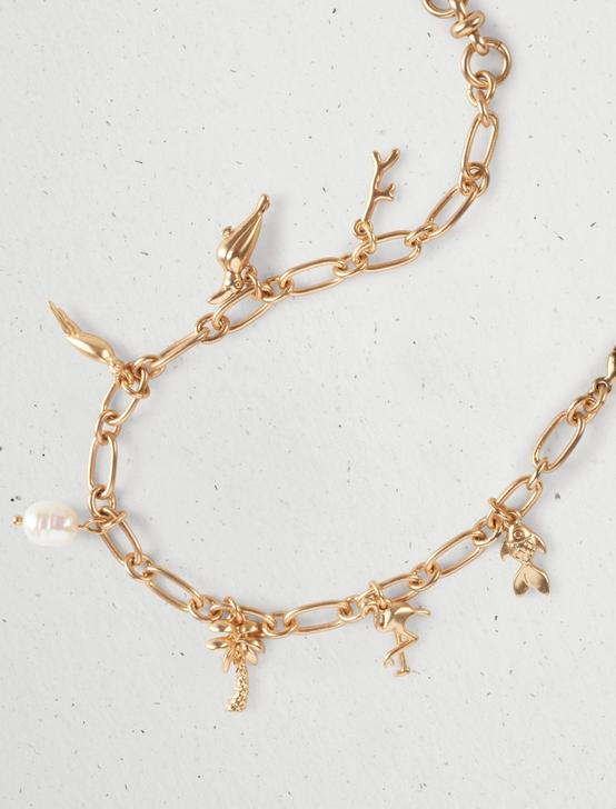TROPICAL CHARM LINK BRACELET, GOLD, productTileDesktop