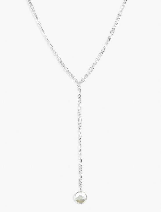 Y NECKLACE, SILVER, productTileDesktop