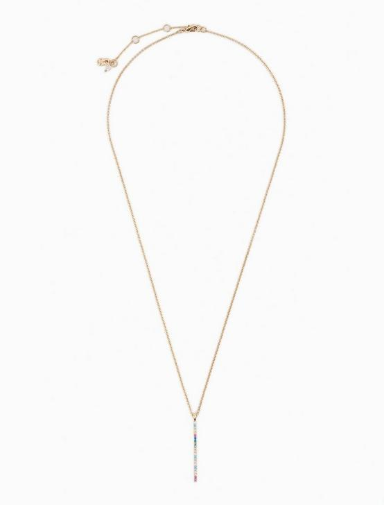 PAVE PENDANT NECKLACE, GOLD, productTileDesktop