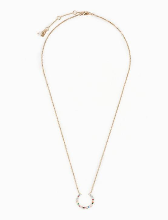 PAVE CIRCLE NECKLACE, GOLD, productTileDesktop