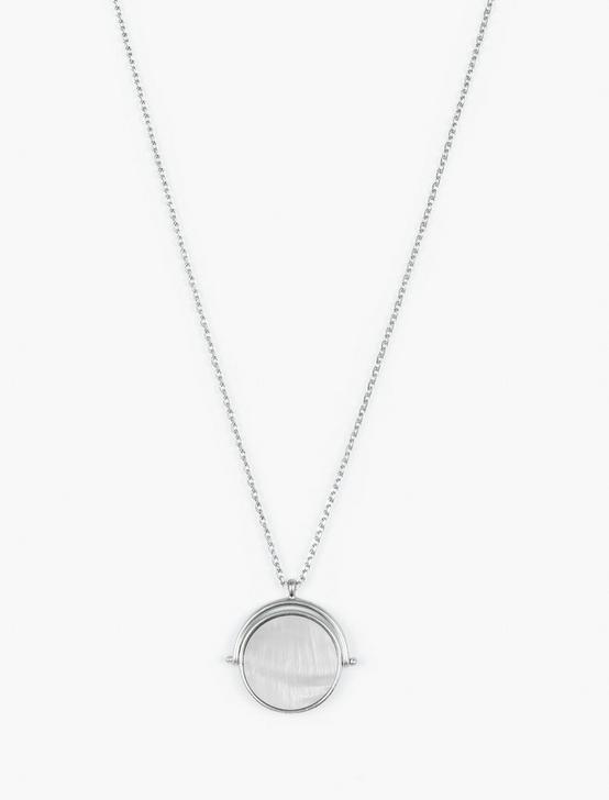 SPINNER PENDANT NECKLACE, SILVER, productTileDesktop
