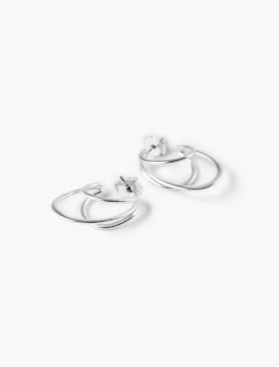 MULTI HOOP EARRINGS, SILVER, productTileDesktop