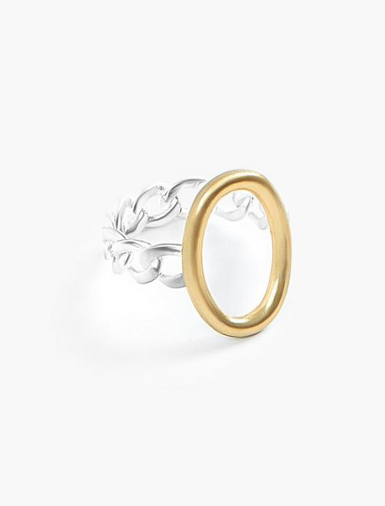 FROZEN CHAIN RING, TWO TONE, productTileDesktop