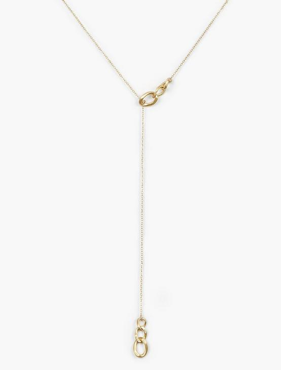 LINK Y NECKLACE, GOLD, productTileDesktop