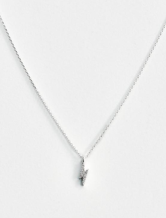 LIGHTNING BOLT DELICATE NECKLACE, SILVER, productTileDesktop