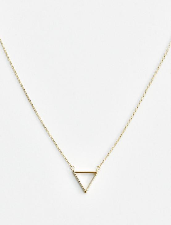 TRIANGLE DELICATE NECKLACE, GOLD, productTileDesktop