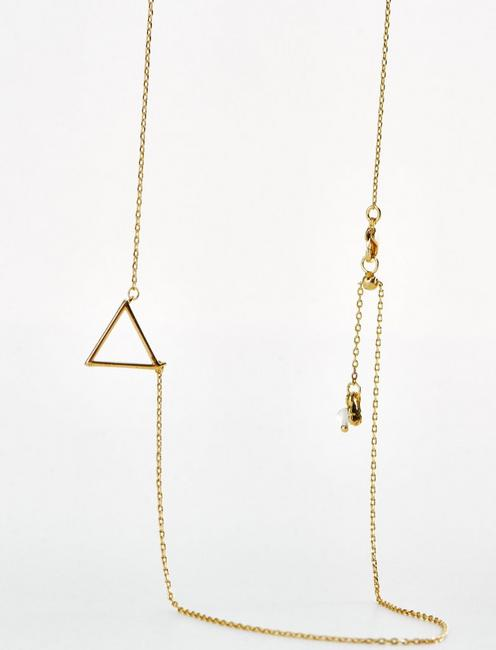 TRIANGLE DELICATE NECKLACE, GOLD