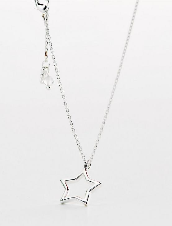 STAR DELICATE NECKLACE, SILVER, productTileDesktop