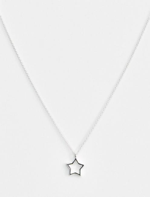 STAR DELICATE NECKLACE, SILVER
