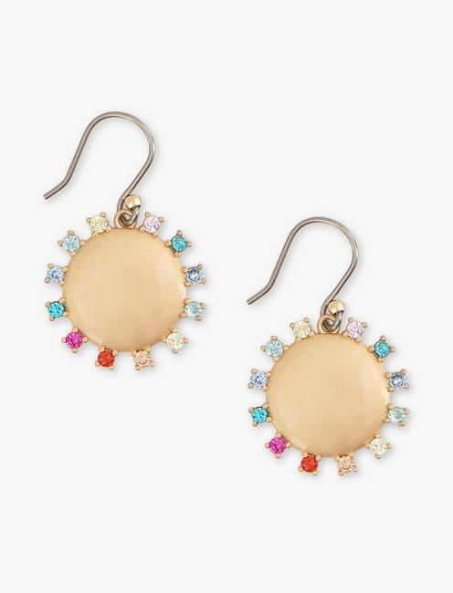 PAVE DROP EARRINGS, GOLD