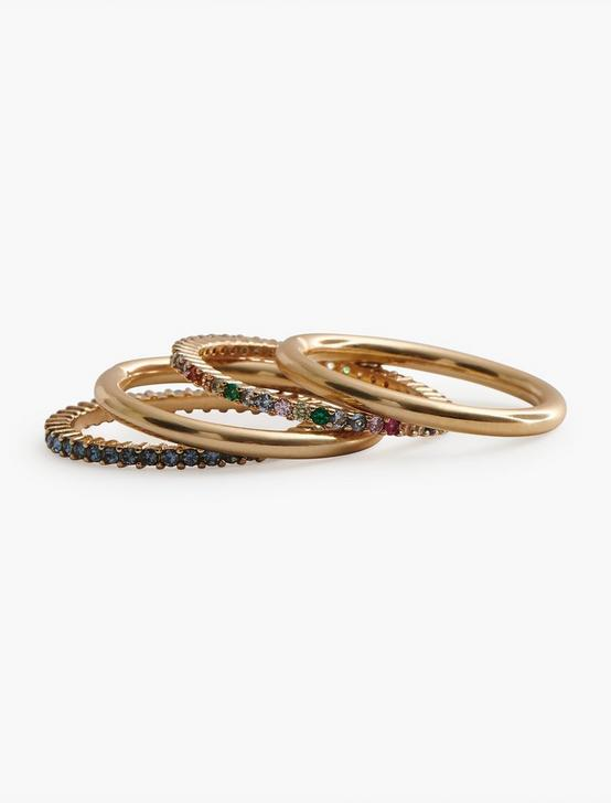 Pave Stack Ring Set