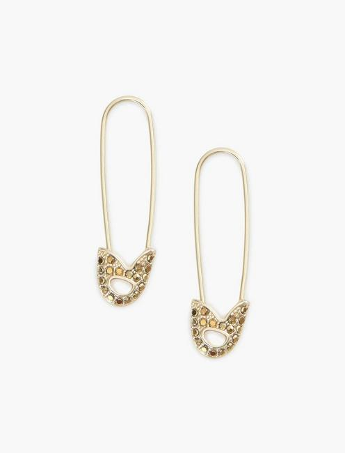 PAVE SAFETY PIN EARRINGS,