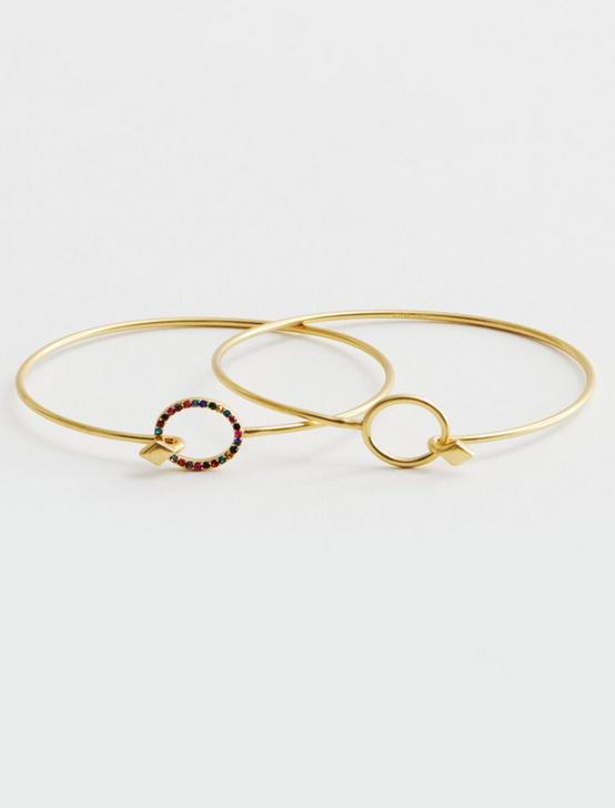 Rainbow Pave Bracelet Set
