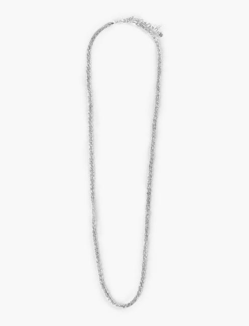 WOVEN CHAIN NECKLACE, SILVER