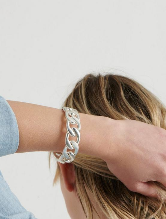 HEAVY CHAIN BRACELET, SILVER, productTileDesktop