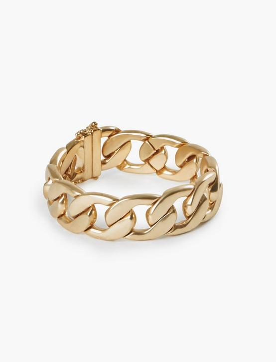 HEAVY CHAIN BRACELET, GOLD, productTileDesktop