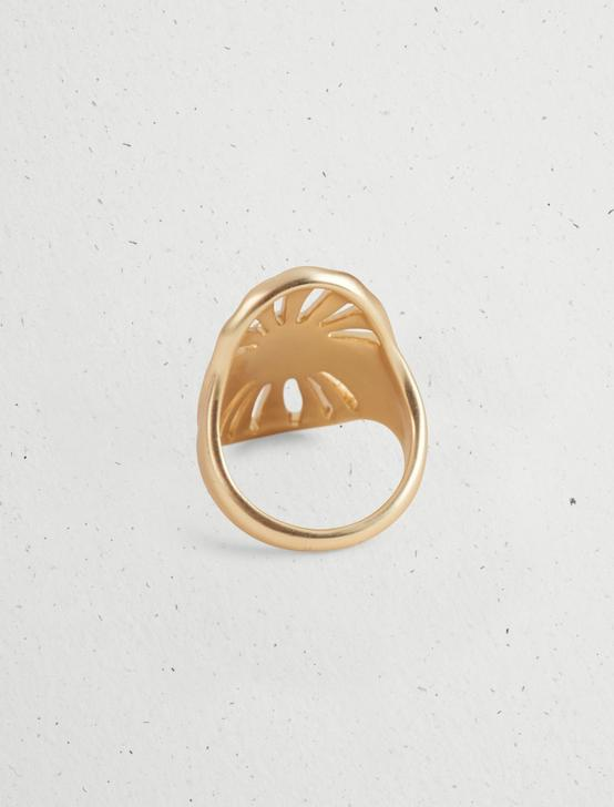 OVAL SUNBURST RING, GOLD, productTileDesktop