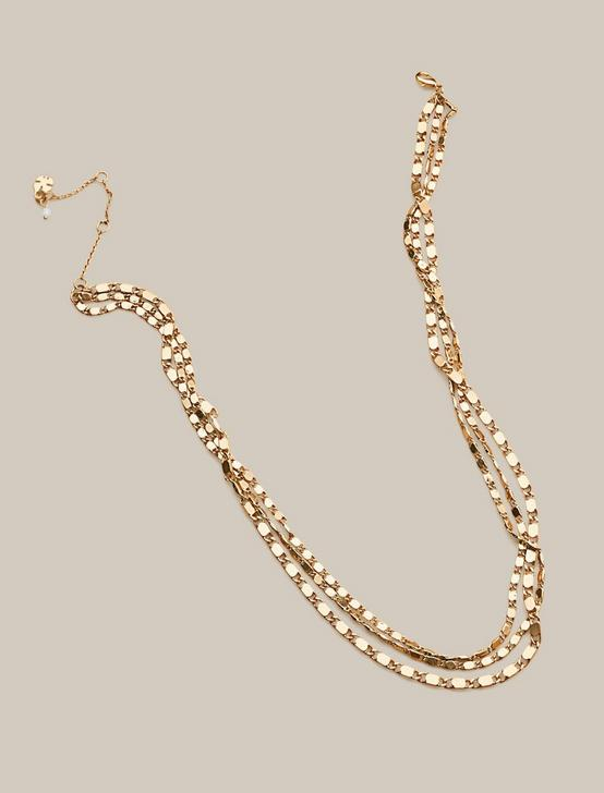 CLASSIC CHAIN LAYER NECKLACE, GOLD, productTileDesktop