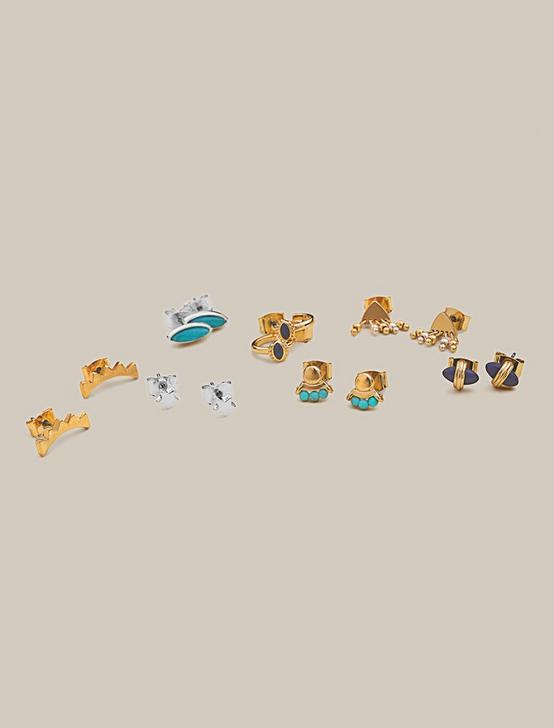 BEAD STORY STUD SET, TWO TONE, productTileDesktop