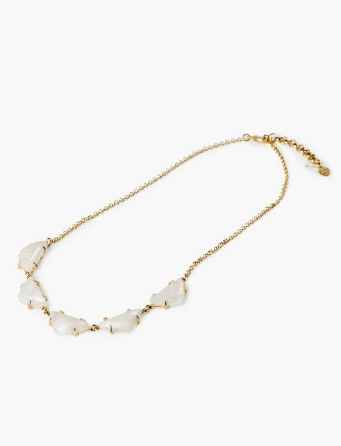 STONE COLLAR NECKLACE, GOLD