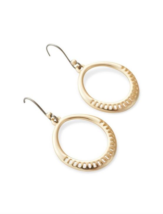 DROP HOOP EARRINGS, GOLD, productTileDesktop