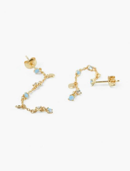 DELICATE STONE DROP EARRINGS, GOLD